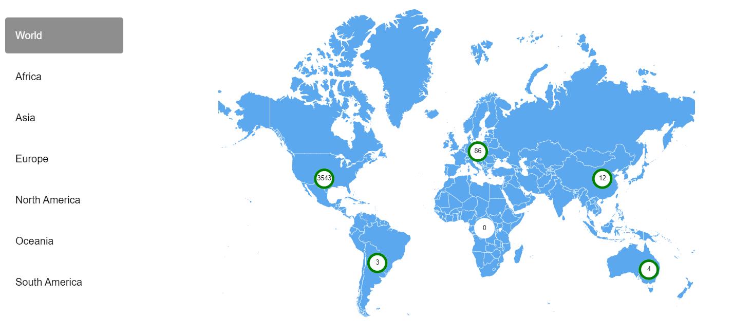 © Sweepatic - Sweepatic world map